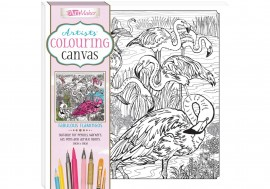 ARTISTS' COLOURING CANVAS: FABULOUS FLAM